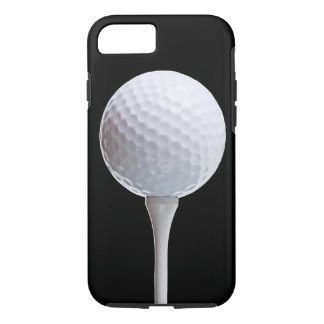 Golfbal op Zwarte - Aangepaste Sjabloon iPhone 8/7 Hoesje