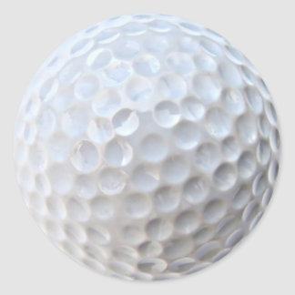 Golfbal Ronde Sticker