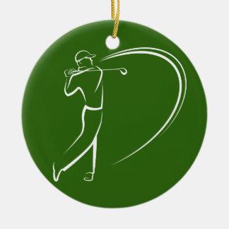 Golfspeler die weg Teeing Rond Keramisch Ornament