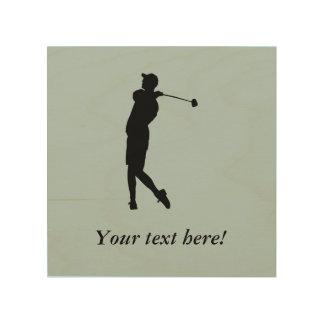 Golfspeler Hout Afdruk