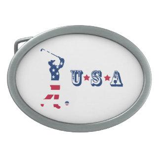 Golfspeler van de het golf de Amerikaanse vlag van Gespen