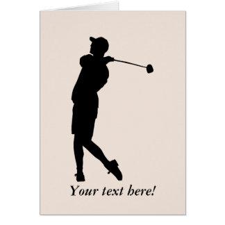 Golfspeler Wenskaart