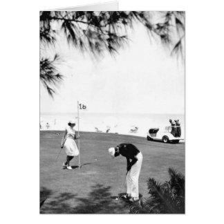 Golfspelers, Marco Eiland, Florida, 1966 Wenskaart