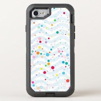 Golven - gelukkige punten OtterBox defender iPhone 8/7 hoesje