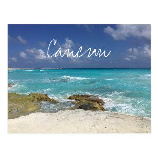 Golven van het Strand van Mexico van Cancun de Briefkaart
