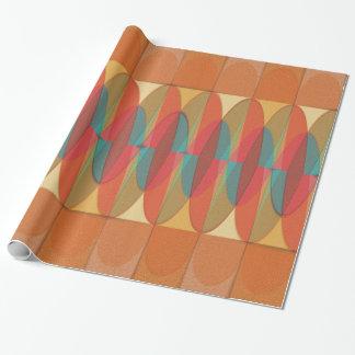 Golvende kleurenstreep inpakpapier