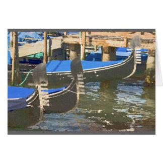 Gondels in Venetië, Italië Wenskaart