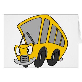 Goofy Bus van de School Briefkaarten 0