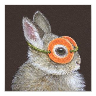 Gooi de konijntjesuitnodiging kaart