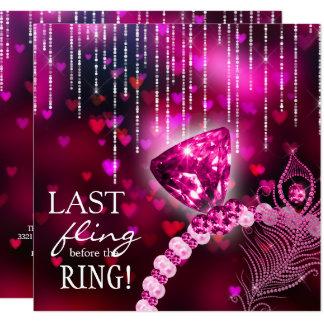 Gooi het laatst vóór de Roze Ring van de Kaart