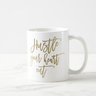 Gooi Uw Mok van de Koffie van het Hart uit Gouden
