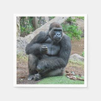 Gorilla bij de dierentuin papieren servetten