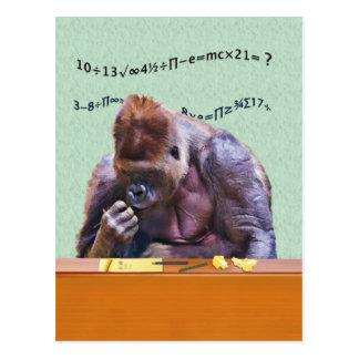 Gorilla bij het Briefkaart van het Bureau
