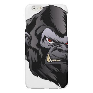 gorilla hoofdillustratie glossy iPhone 6 hoesje