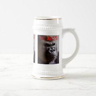 Gorilla Silverback de Chef- Koning Gerangschikte Bierpul