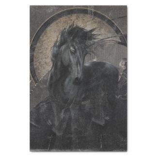 Gotisch Friesian Paard Tissuepapier