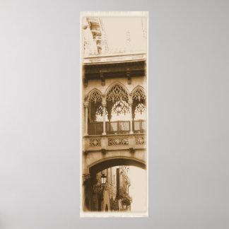 Gotisch Kwart Barcelona Poster