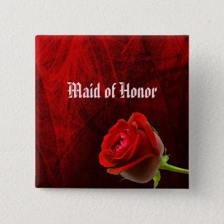 Gotisch nam de Knoop van het Eerste bruidsmeisje Vierkante Button 5,1 Cm