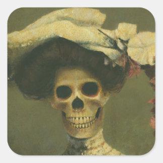 Gotisch Skelet Dame Sticker