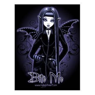 """Gotische Blauw """"Mina"""" bijt me het Briefkaart van"""
