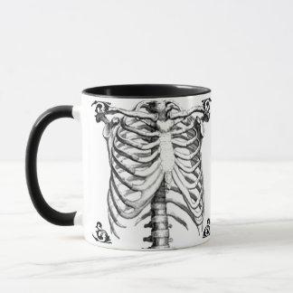 Gotische de koffiemok van het Skelet van Ribcage