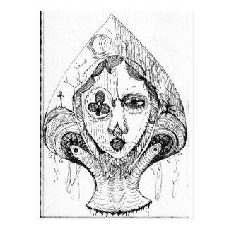 Gotische Spade Zentangle Wens Kaarten