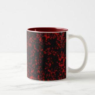 gotische sterren tweekleurige koffiemok