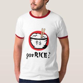 gotRICE? De Japanse Kom van de Rijst voor Wit T Shirt