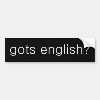 gots het Engels? Bumpersticker