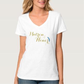 Goud en Matron van Veren van het Overhemd van de T Shirt