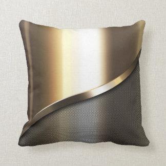 goud geperforeerd staal met chroom en metaal sierkussen