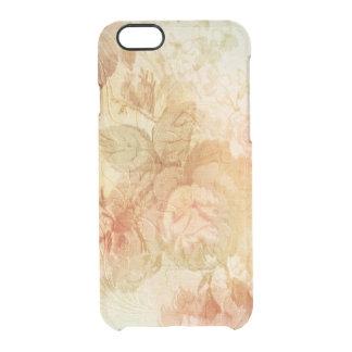 Goud In reliëf gemaakte Rozen Doorzichtig iPhone 6/6S Hoesje