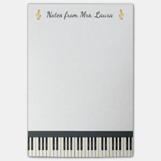 Goud van het Instrument van het Toetsenbord van de Post-it® Notes