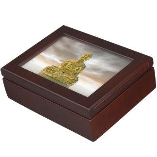 Gouden 3D Boedha - geef terug Bewaardoosje