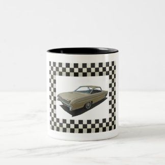 Gouden 61 Oldsmobile Tweekleurige Koffiemok