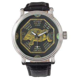 Gouden Abalone Shell van Feng Shui van de Horloge