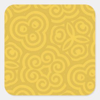 Gouden Abstract Patroon Vierkante Sticker