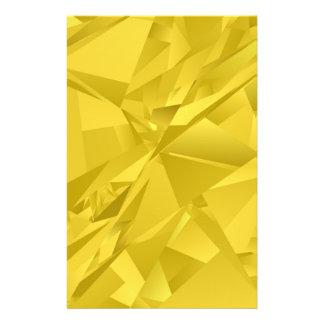 Gouden abstracte driehoeken persoonlijke folder