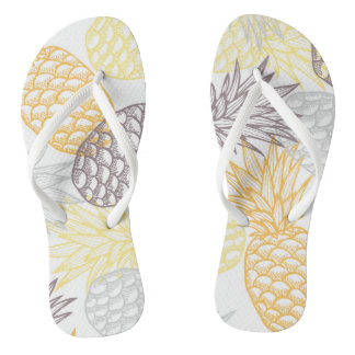 Gouden ananasteenslipper teenslippers