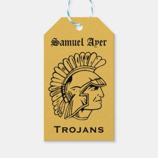Gouden B; ack Retro Trojan Label van de Gift van Cadeaulabel