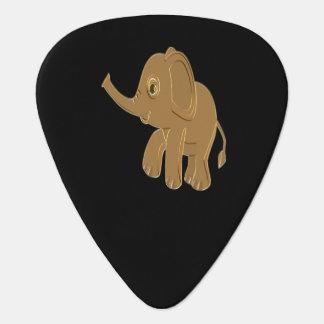 Gouden babyolifant die de hemel onderzoeken gitaar plectrums 0