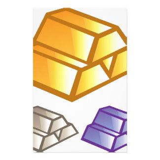 Gouden bakstenenvector briefpapier
