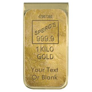 Gouden Bar Vergulde Geldclip