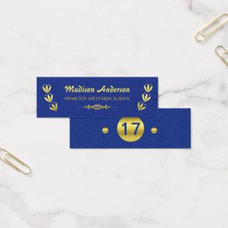 Gouden Blauw van het Tussenvoegsel van het Jaar Mini Visitekaartjes