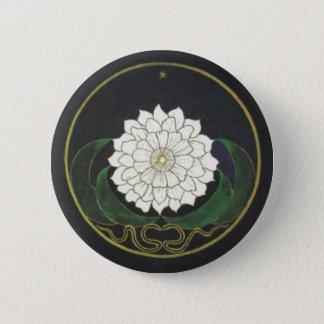 Gouden Bloem Mandala Ronde Button 5,7 Cm