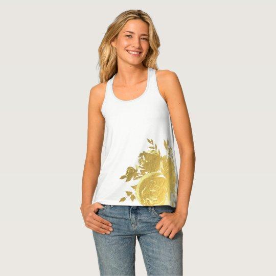 Gouden Bloemen Elegant van Glam van Rozen Tanktop