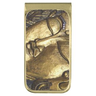 Gouden Boedha die de Klem van het Geld van de Vergulde Geldclip