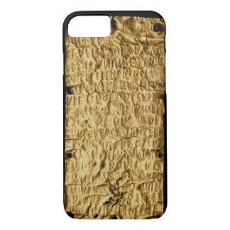 """Gouden bord met """"lange"""" inschrijving Etruscan voor iPhone 8/7 Hoesje"""
