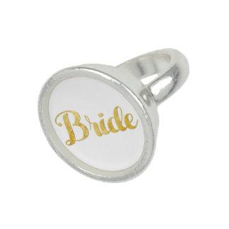 Gouden bruid foto ring