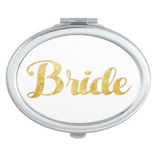 Gouden bruid handtas spiegeltje